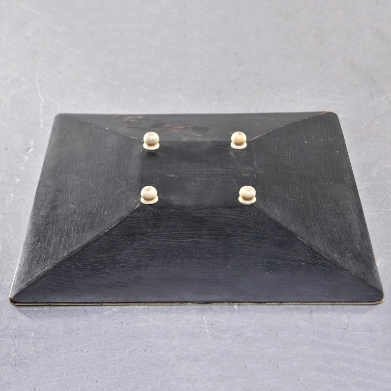 Contemporary Square Footed Tray or Decorative Bowl with Bone Mosaic For Sale