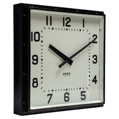 Square Gents of Leicester Clock, England, circa 1930