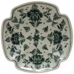 Square Green and Natural Delft Catchall Dish