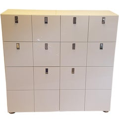 Square High Gloss White Chest of Drawers