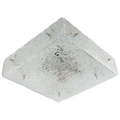 Square Kalmar Textured Glass Flushmount Light Sconce 'Hippolyt', 1960, 1 of 3