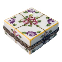 "Square Limoges France Hand Painted ""Gift Wrapped Present"" Limited Edition Box"