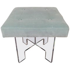 Square Lucite Bench