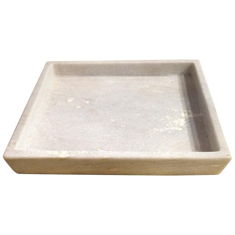 Square Marble Tray, India, Contemporary For Sale
