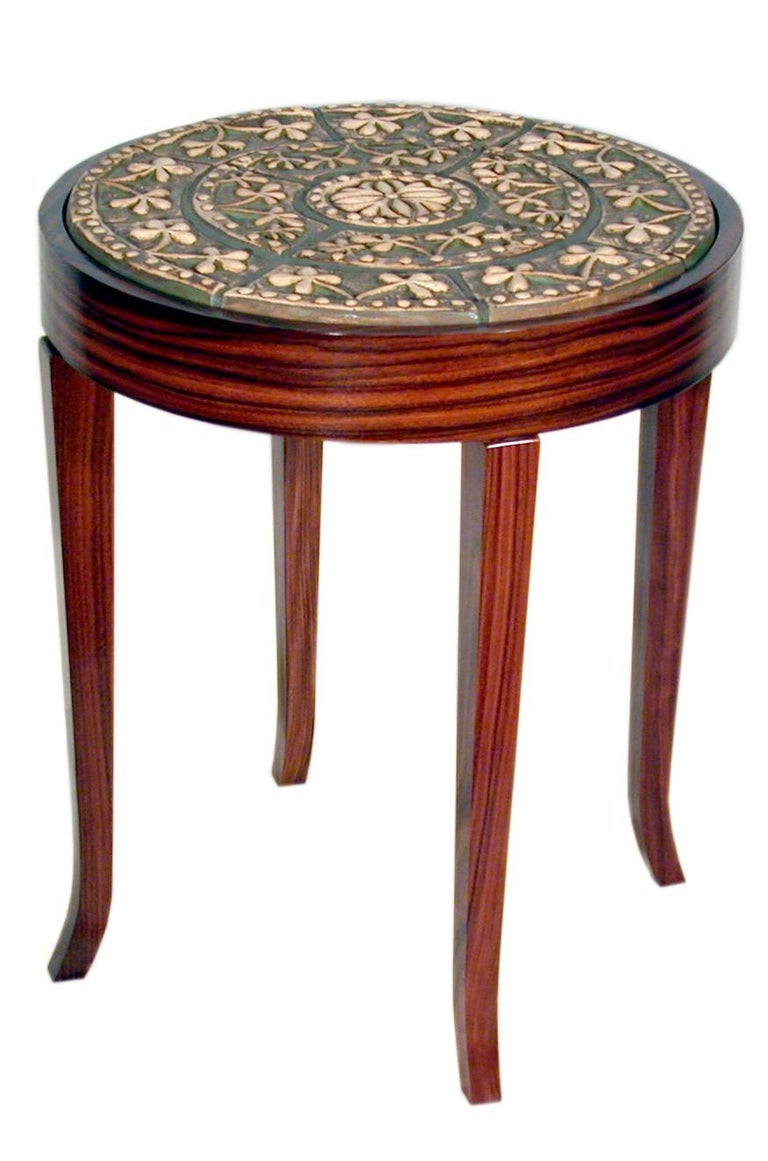 American Craftsman Square Medallion Table Collection by Gregory Clark Collection For Sale