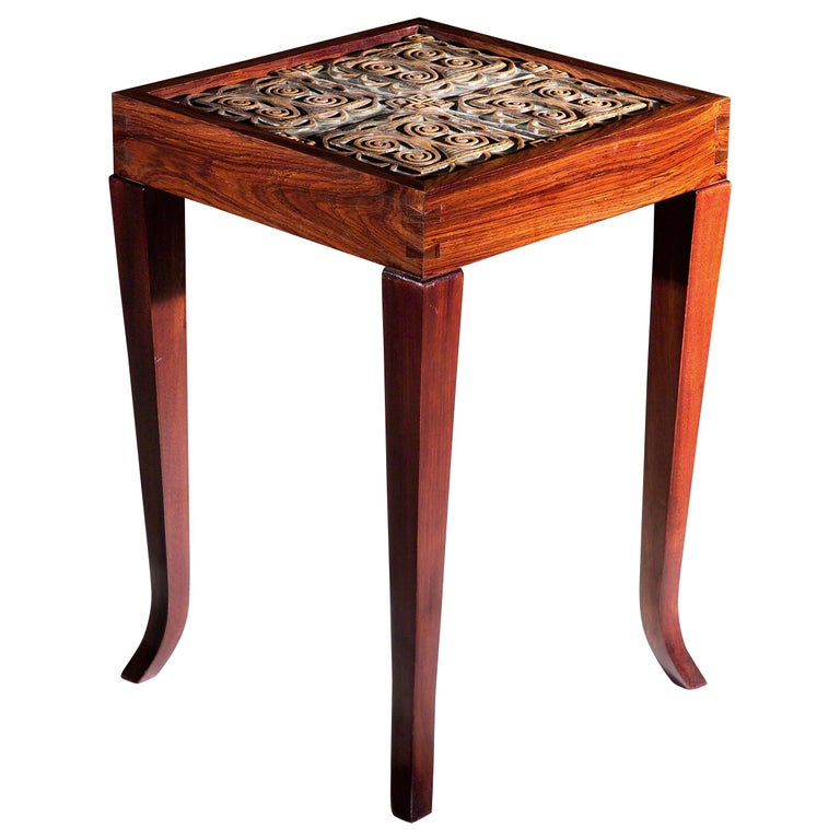 Square Medallion Table Collection by Gregory Clark Collection For Sale