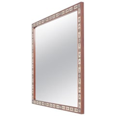 Square Midcentury Wall Mirror by Royal Copenhagen, Danish, 1960s
