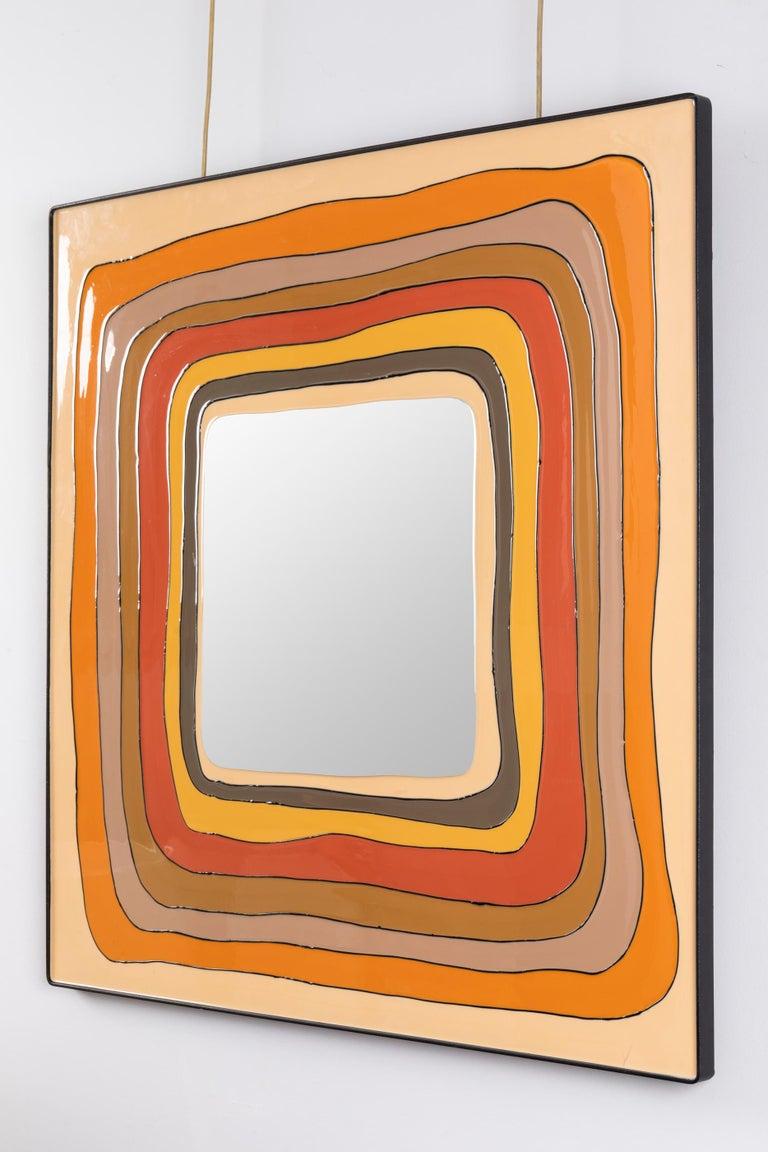 Italian Square Mirror, Italy, 1970