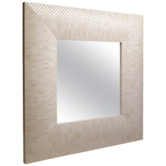 Square Mirror Made with Carved Bone, Aspire Mirror