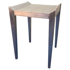 Square Modern Silver-Leaf Side Table by Decca