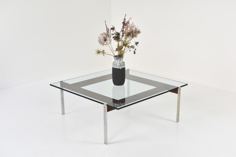 Mid-Century Modern Square Modernist Coffee Table from the 1950s For Sale
