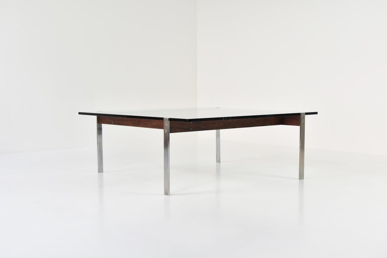 European Square Modernist Coffee Table from the 1950s For Sale