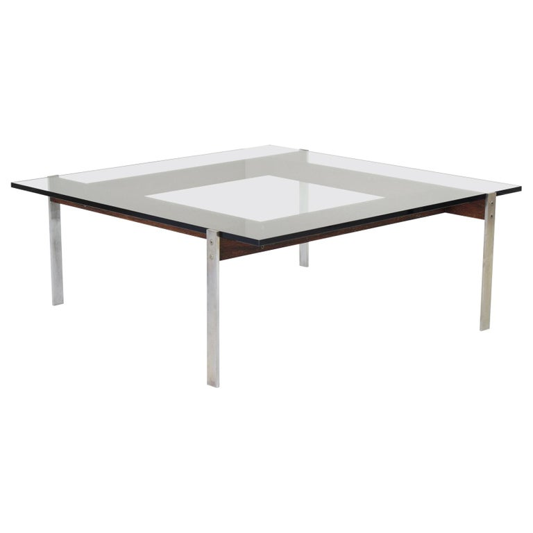 Square Modernist Coffee Table from the 1950s For Sale