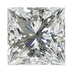 14 Karat Solitaire Square Diamond Ring, 2.13 Carat