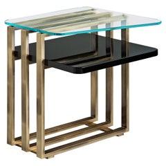 Square Palm Side Table by Piero Angelo Orecchioni