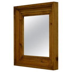 Square Pine-Framed Wall Mirror