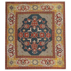 Square Rugs Handmade Carpet Antique Rugs, Kilim Rugs Luxury Rustic Oriental Rugs