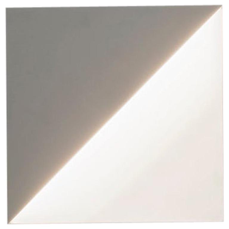 Square Sconce in White Corian