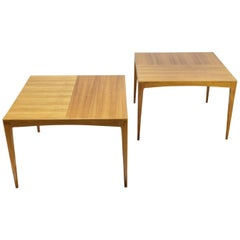 Square Set of Two Side Tables in Beech Manner of Wilhelm Renz, 1960