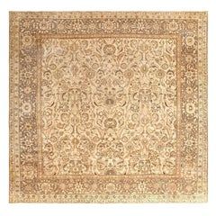 Square Size Antique Agra Indian Rug. Size: 10 ft 3 in x 10 ft 5 in