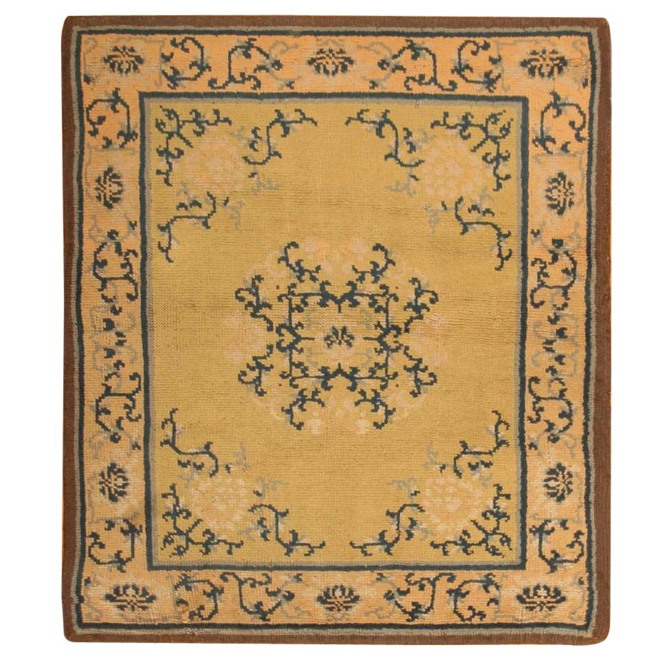 Square Size Antique Spanish Carpet. Size: 4 ft 5 in x 4 ft 11 in