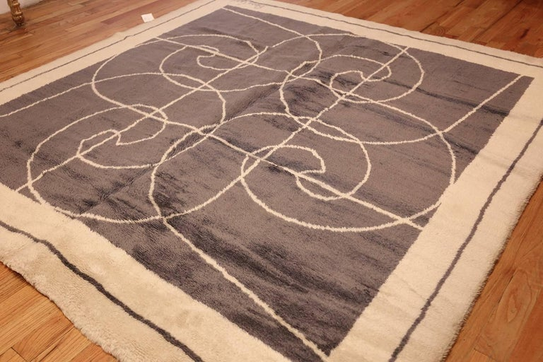 Mid-Century Modern Square Size Mid-Century Rug by Pierre Cardin. Size: 8 ft x 8 ft