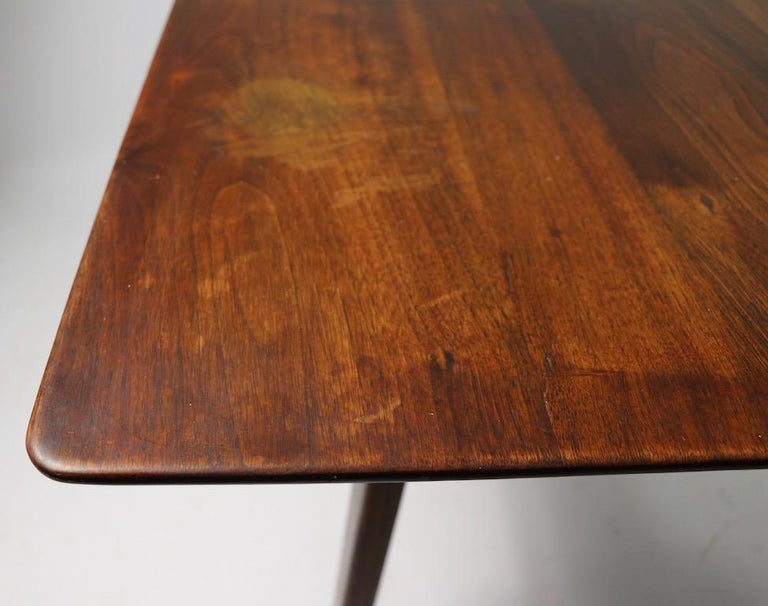 Walnut Square Table by Jens Risom For Sale