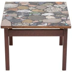 Square Terrazzo Coffee Table by Erling Viksjø
