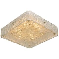 Square Textured Glass Flush Mount Ceiling Lamp by J.T Kalmar