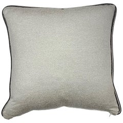 Square Throw Pillow in Dedar Artemis Fabric with Black and White Piping