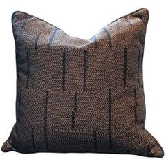 Square Throw Pillow in Dedar Jacquard Lame Fondoro Fabric