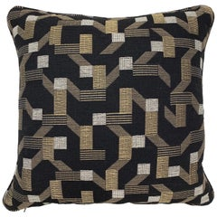 Square Throw Pillow in Dedar Pachisi Fabric