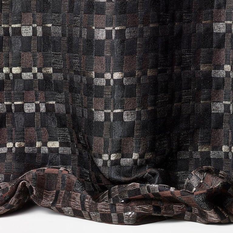 Square Throw Pillow in Dedar Reversi and Artemis Fabrics For Sale 2
