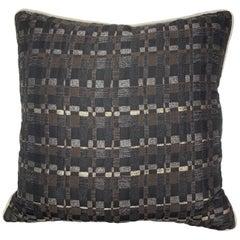 Square Throw Pillow in Dedar Reversi and Artemis Fabrics