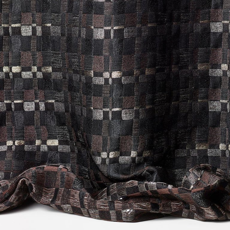 Contemporary Square Throw Pillow in Dedar Reversi Fabric For Sale