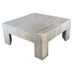 Square Travertine Cocktail Table