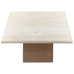 Square Travertine Modern Coffee Table
