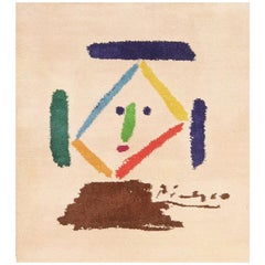 Square Vintage After Picasso Art Rug