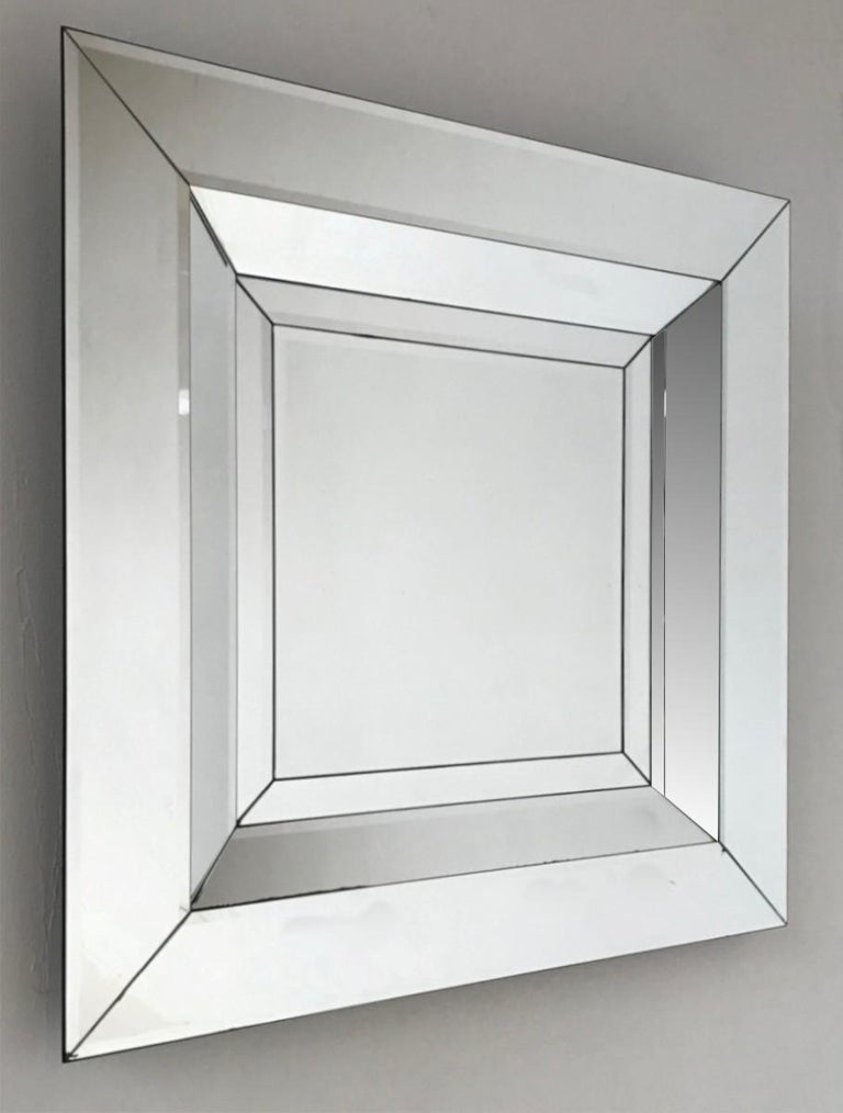 European Square Wall Mirror For Sale