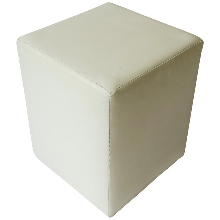 Sensational Modern White Leather Stool Bench Or Side Table Cjindustries Chair Design For Home Cjindustriesco