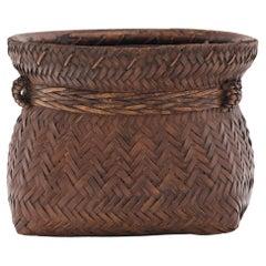 Square Woven Smoked Bamboo Basket