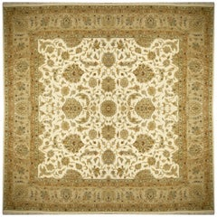 Square Ziegler Mahal Design Rug Wool Pile Beige Green New from India