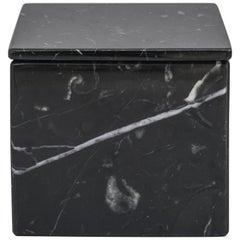 Squared Black Marble Box
