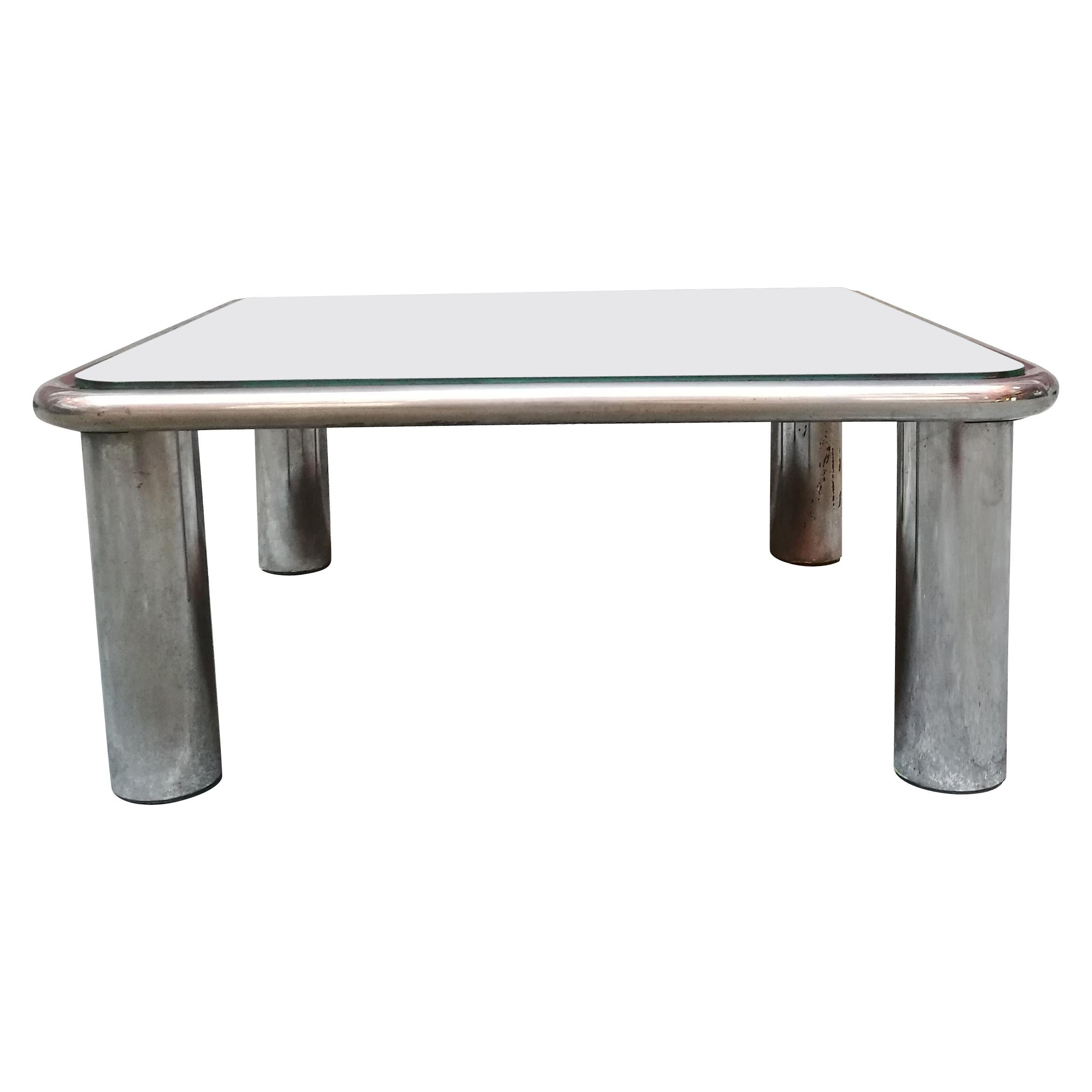 Squared Coffee Table Sesann by Gianfranco Frattini for Cassina, 1968