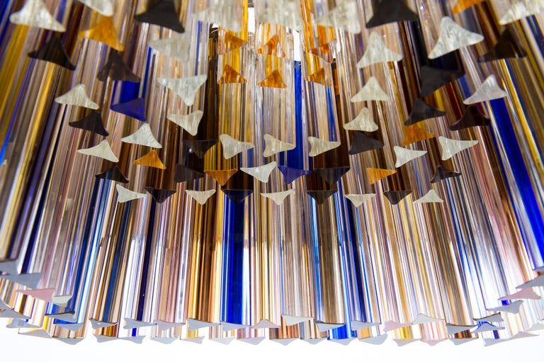 Squared Murano Glass Chandelier Light colors Trieders Giovanni Dalla Fina, Italy For Sale 6
