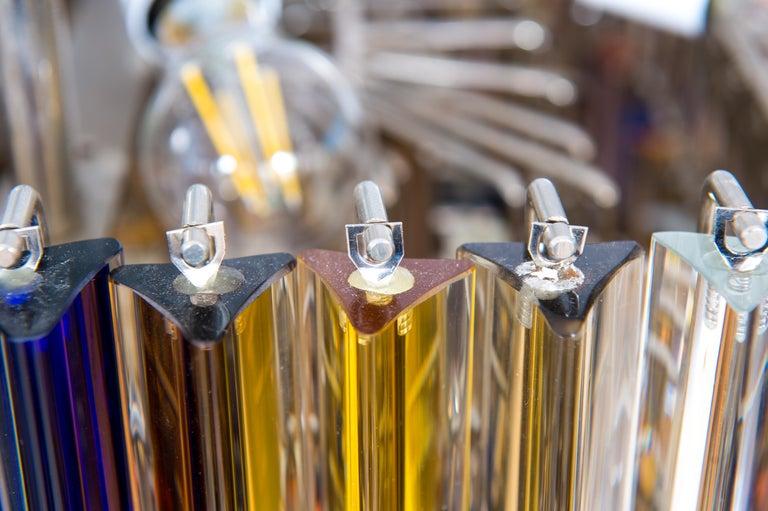 Squared Murano Glass Chandelier Light colors Trieders Giovanni Dalla Fina, Italy For Sale 11