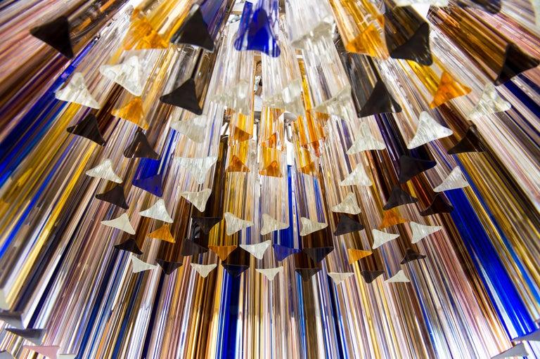Squared Murano Glass Chandelier Light colors Trieders Giovanni Dalla Fina, Italy For Sale 12
