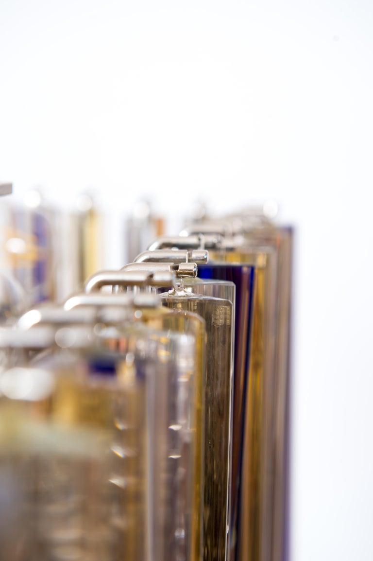 Contemporary Squared Murano Glass Chandelier Light colors Trieders Giovanni Dalla Fina, Italy For Sale