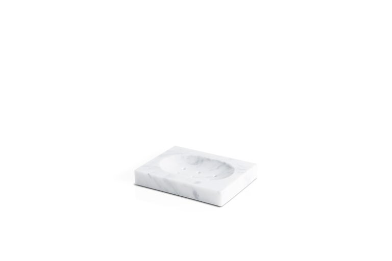 Squared Soap Dish in Black Marquina Marble In New Condition For Sale In Carrara, IT