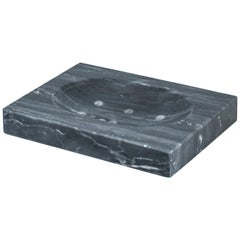 Squared Soap Dish in Grey Marble